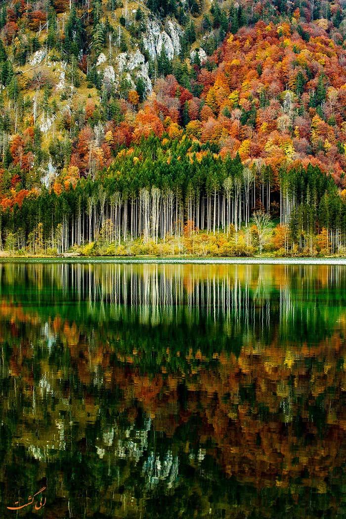 پاییز در کوه های آلپ اتریش