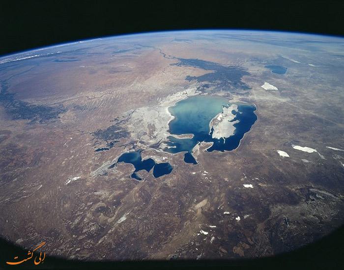 دریای آرال از خارج زمین