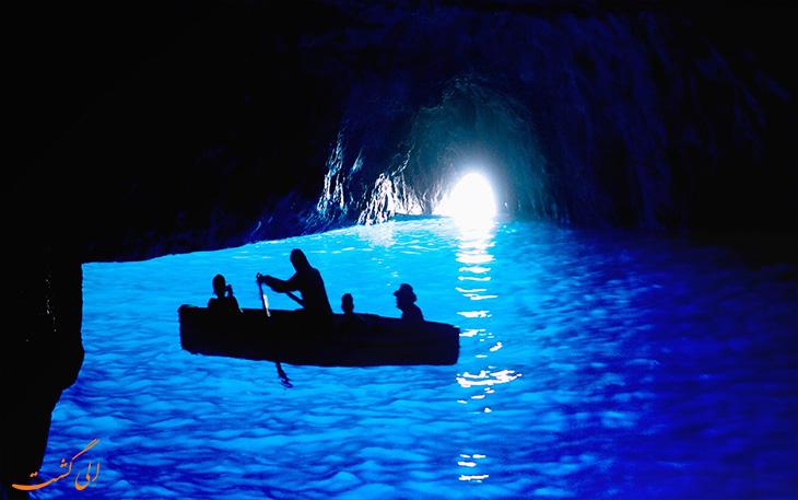 آبهای لاجوردی غار آبی