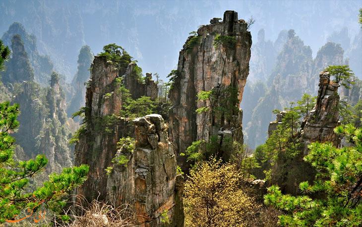 کوهستان زیبای تیانزی در چین