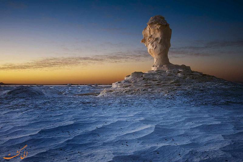 بیابان فارافرا مصر در غروب