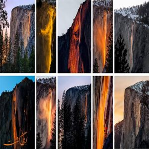 آبشار آتش در پارک ملی یوسمیت آمریکا