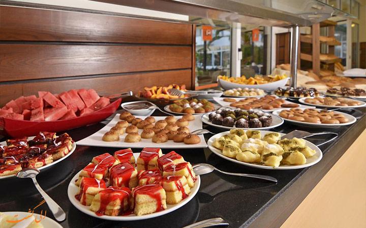 غذای رستوران هتل پانوراما هیل