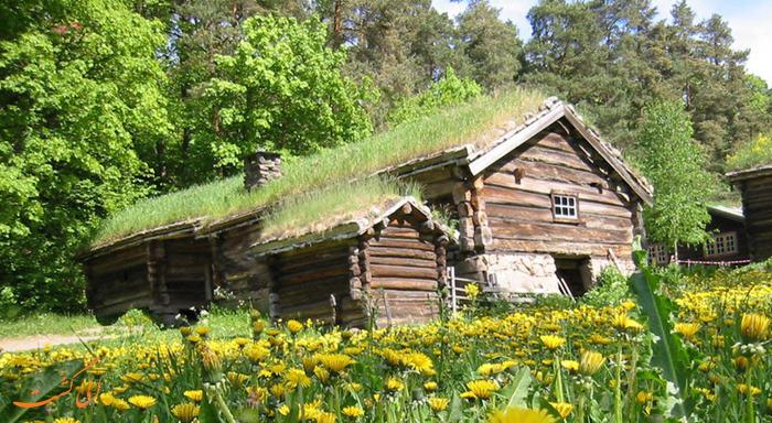 عکس خانه های چمنی نروژ