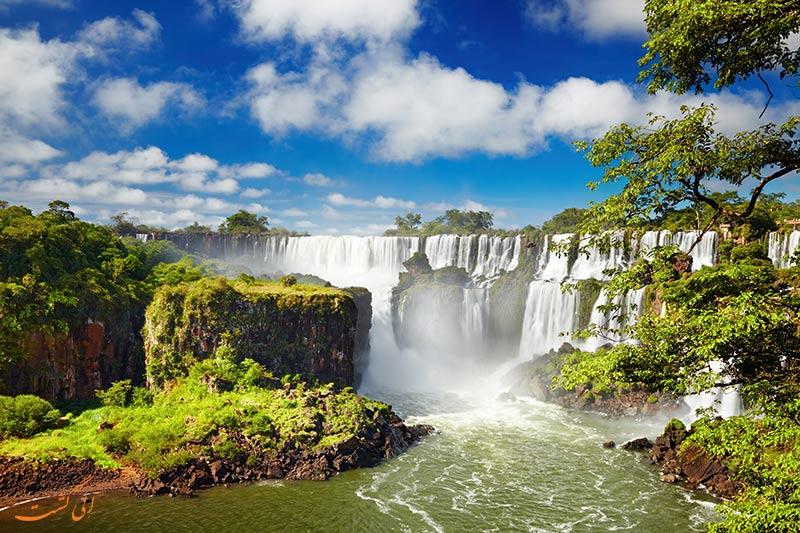 عکس آبشارهای ایگواسو در برزیل