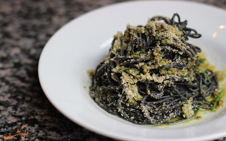 اسپاگتی با عصاره کالتفیش