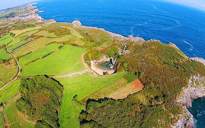 تصویر هوایی ساحل عجیب اسپانیا
