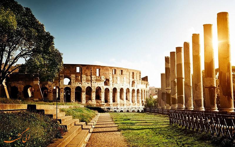 بتن ساختمان های رم باستان