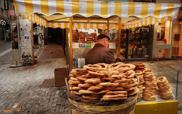 غذاهای خیابانی آتن
