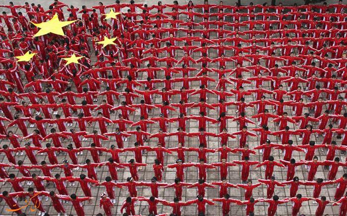 نمایش پرچم چین