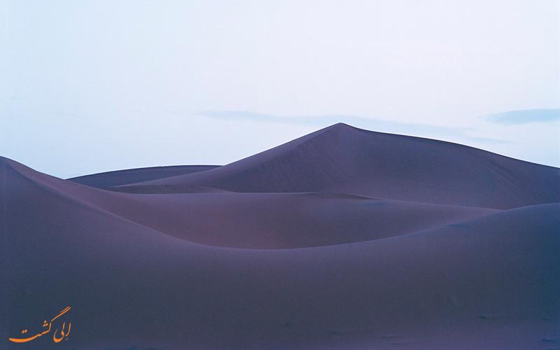 رنگ جالب بیابان مراکش