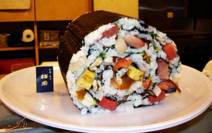 رستورانی با بزرگ ترین سوشی