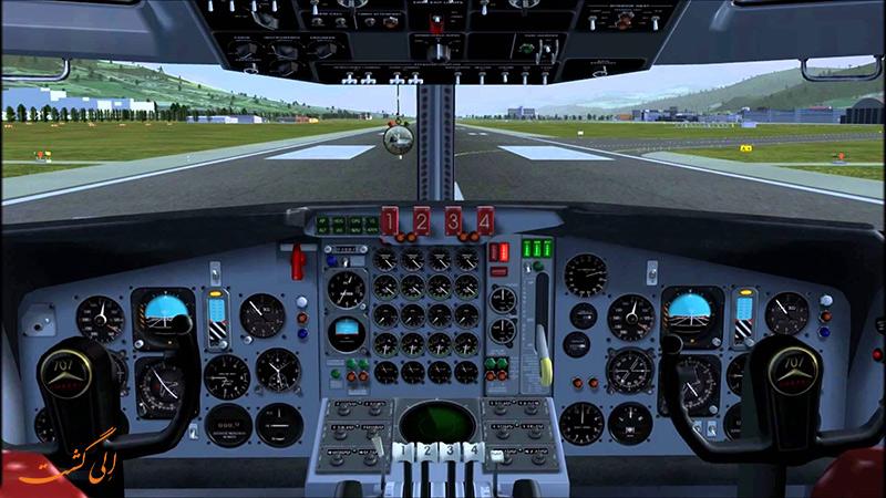کابین هواپیمای بوئینگ 707