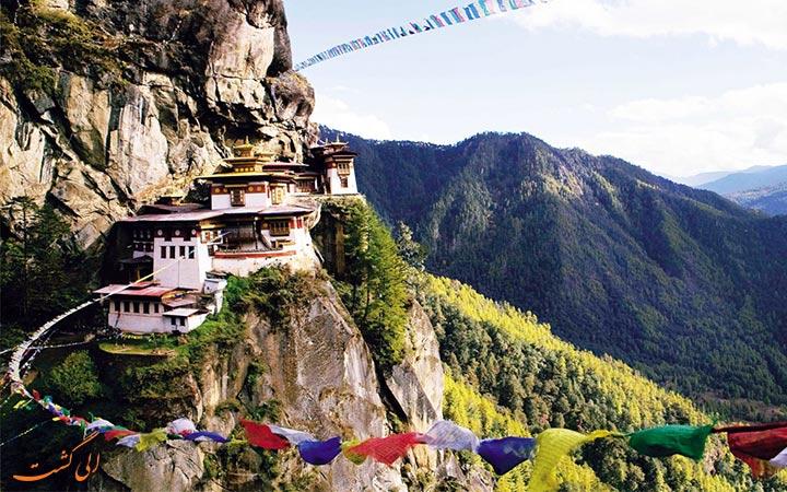 منظره ای از کشور بوتان