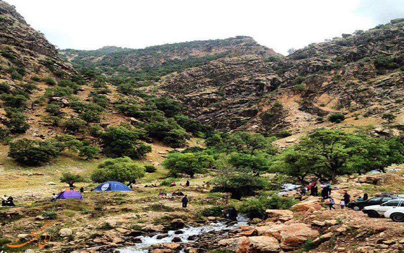 طبیعت آبشار نوژیان