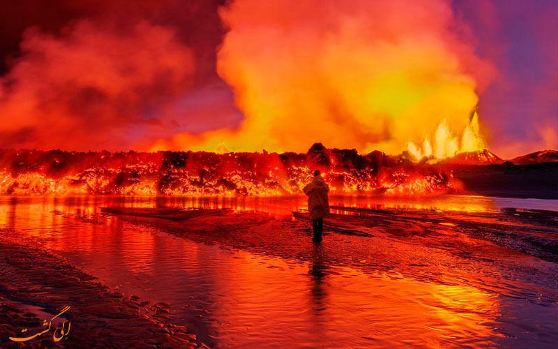 گدازه های آتشفشان
