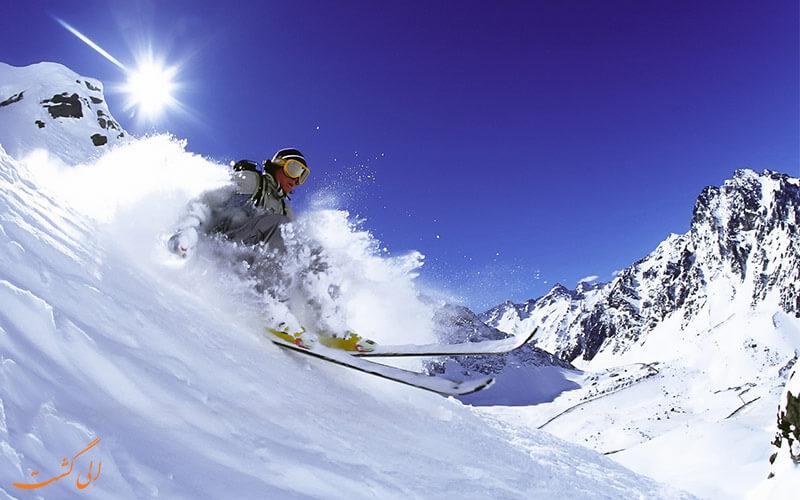 اسکی یا اسنوبوردینگ در آندس