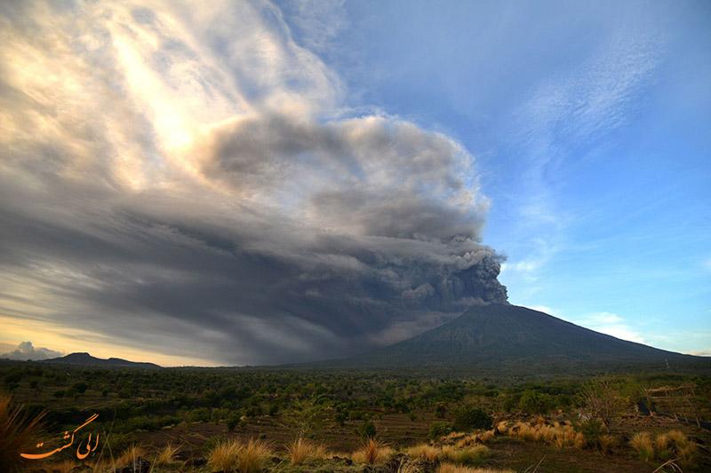 عکس های فوران آتشفشان بالی