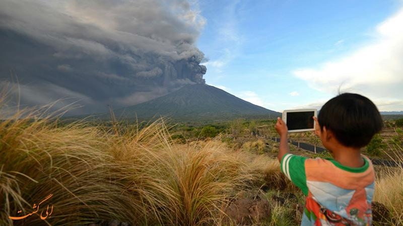 فوران آتشفشان بالی