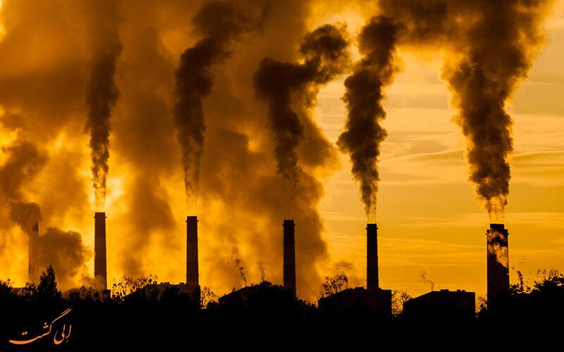آلودگی هوا ناشی از کارخانه ها
