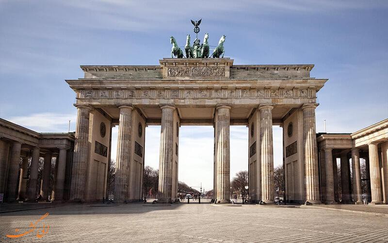 نمای کامل دروازه ی براندبورگ