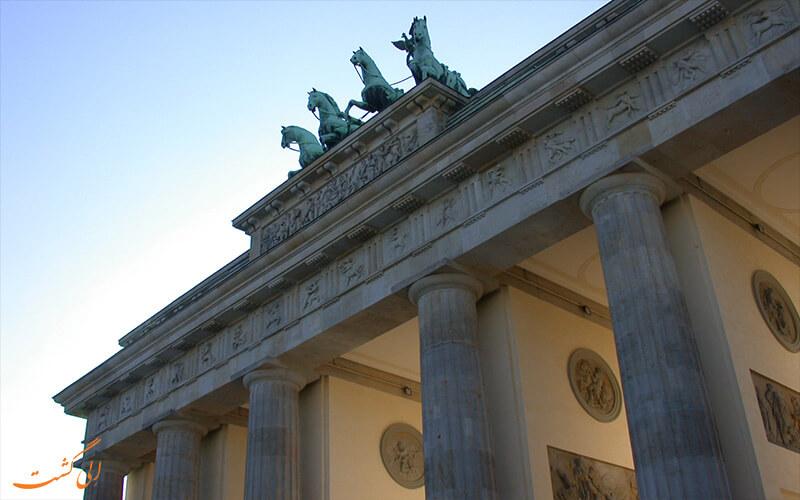 نمایی از دروازه براندبورگ آلمان