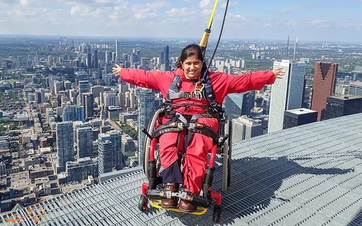 مسیر پیاده روی بالای برج سی ان کانادا