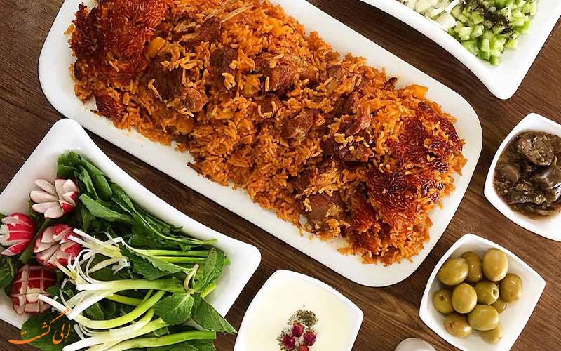 غذای چکدرمه ترکمنستان