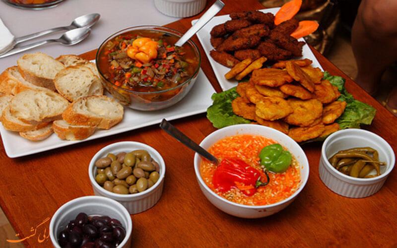 غذاهی محلی هائیتی در رستوران های محلی