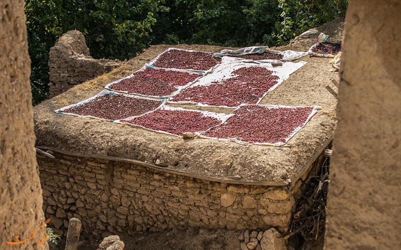 سقف خانه های روستای هیر