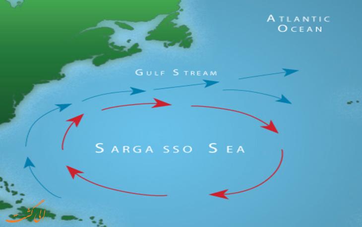 نقشه دریای سارگاسو