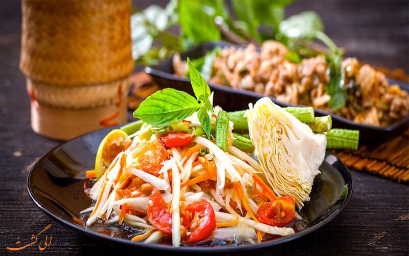غذاهای تایلندی هتل سی ویو پاتایا