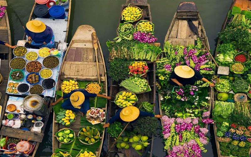 بازارهای آبی تایلند