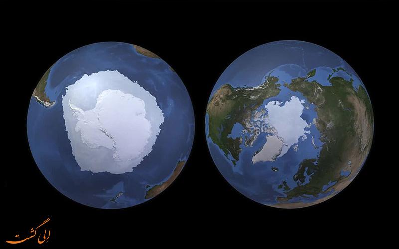 قطب شمال و قطب جنوب