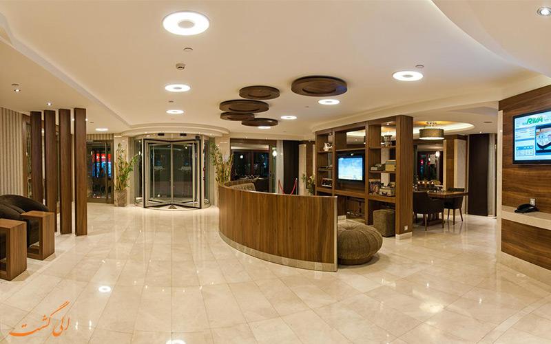 هتل ریوا تکسیم استانبول و لابی آن