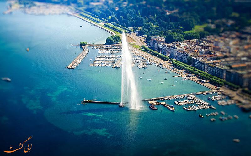 فواره دریاچه ژنو در سوییس