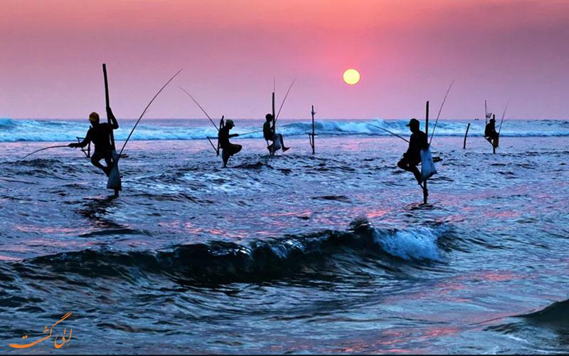 ماهیگیران در هیکادوا