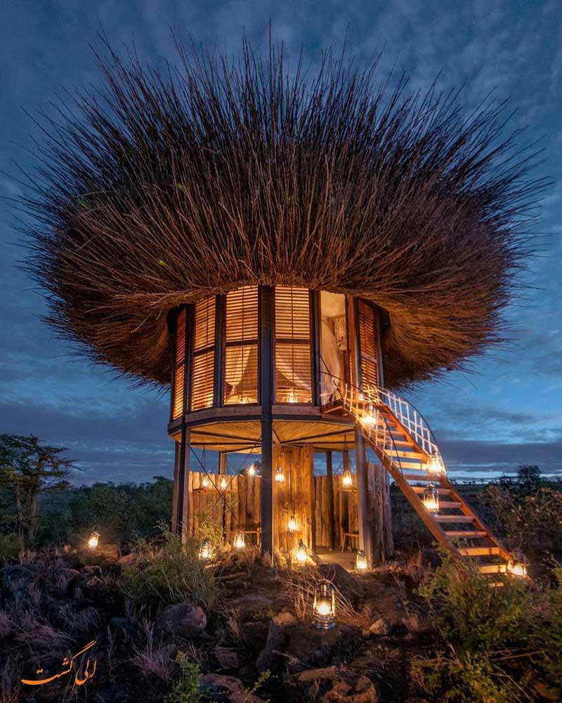 هتلی در کنیا به شکل لانه پرنده
