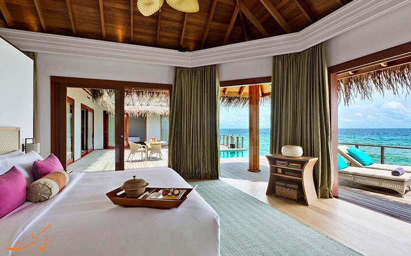 نمونه اتاق در هتل دوسیت تانی مالدیو