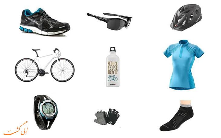لوازم مورد نیاز در سفر با دوچرخه