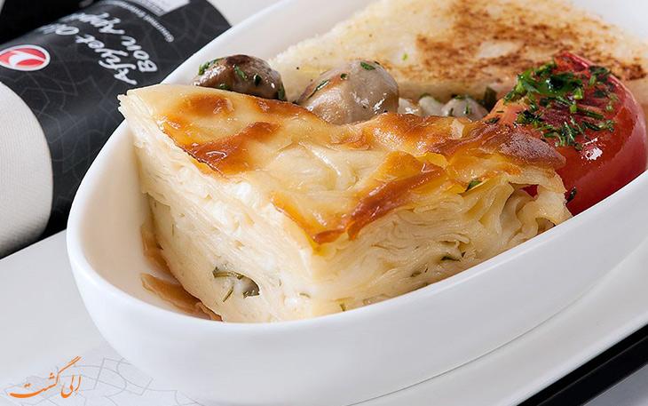 کیفیت غذای ترکیش ایرلاین