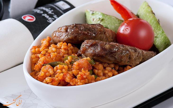بیزنس کلاس غذای ترکیش ایرلاین