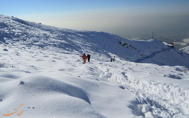 پیاده روی در برف
