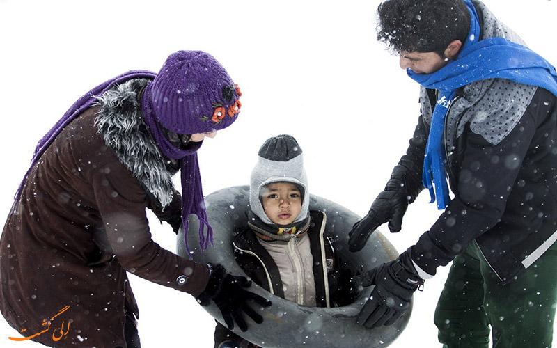برف بازی کودکان
