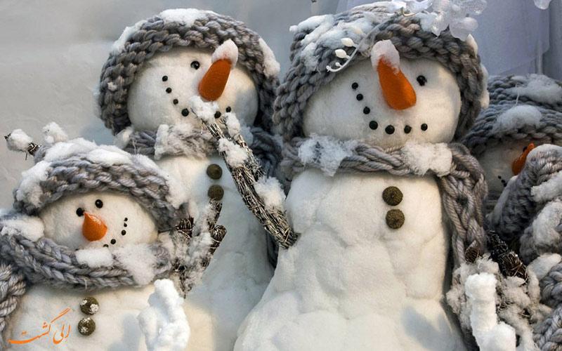 ساختن آدم برفی