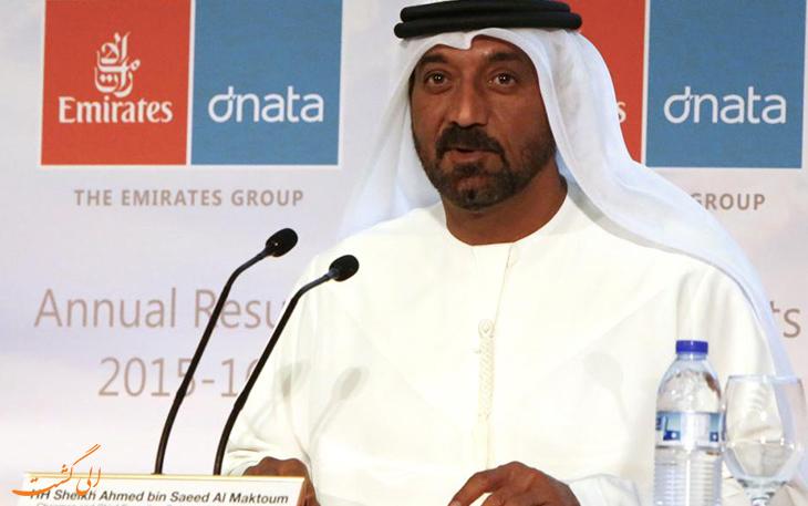 مدیر هواپیمایی امارات