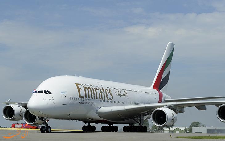 هواپیمایی امارات ایرباس ای 380