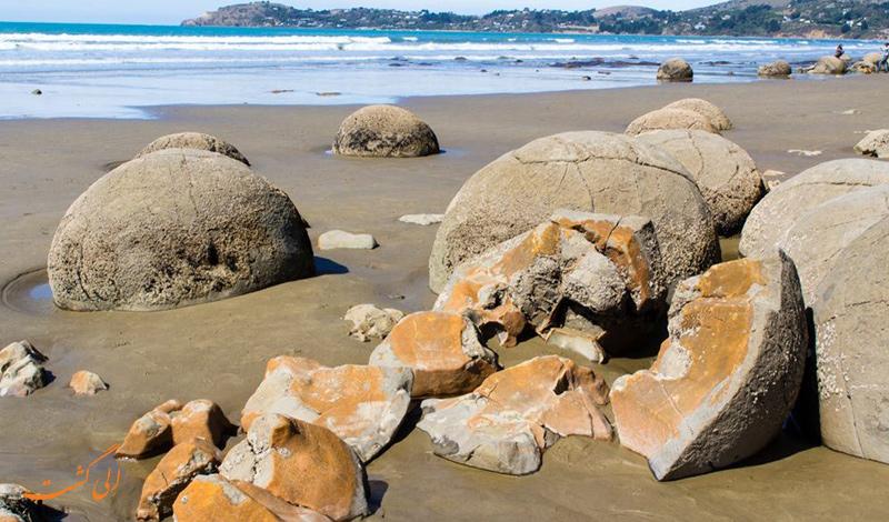 تخته سنگ های موراکی نیوزیلند