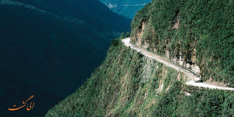 جاده ی یونگاس   خطرناک ترین جاده های جهان