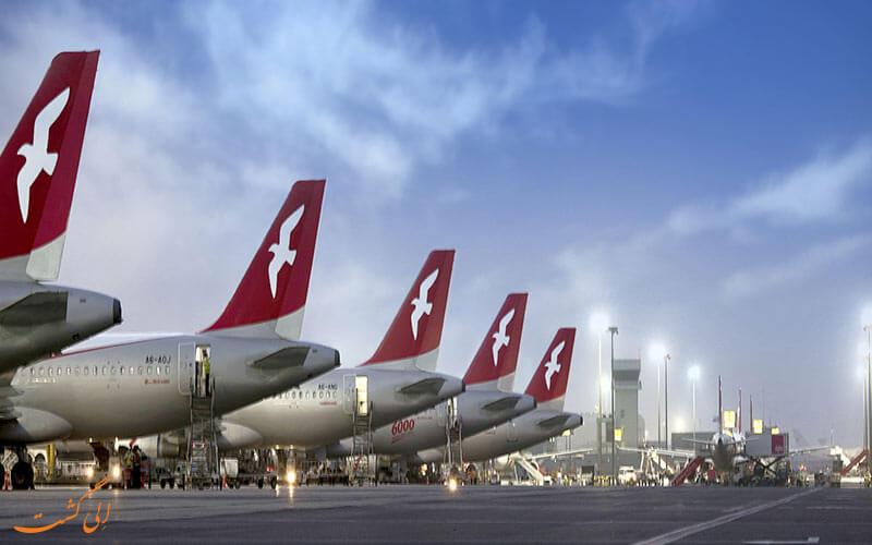نمایی از هواپیماهای فرودگاه شارجه امارات